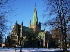 Nidarosdomen in Trondheim, Norway